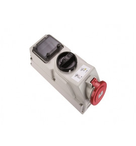 Industrial Interlocked Socket with DIN Rail - CEE type - Insulated