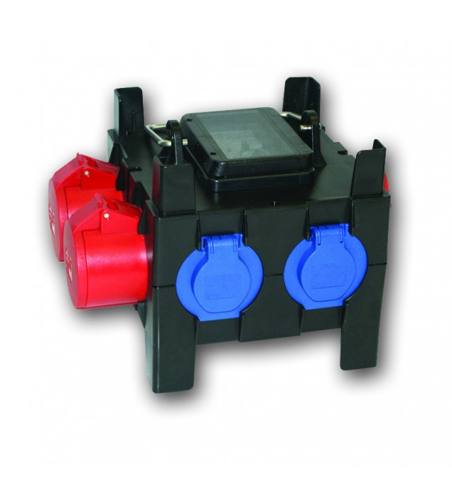 Industrial Mobile Solid Rubber Plug and Socket Distribution Boards